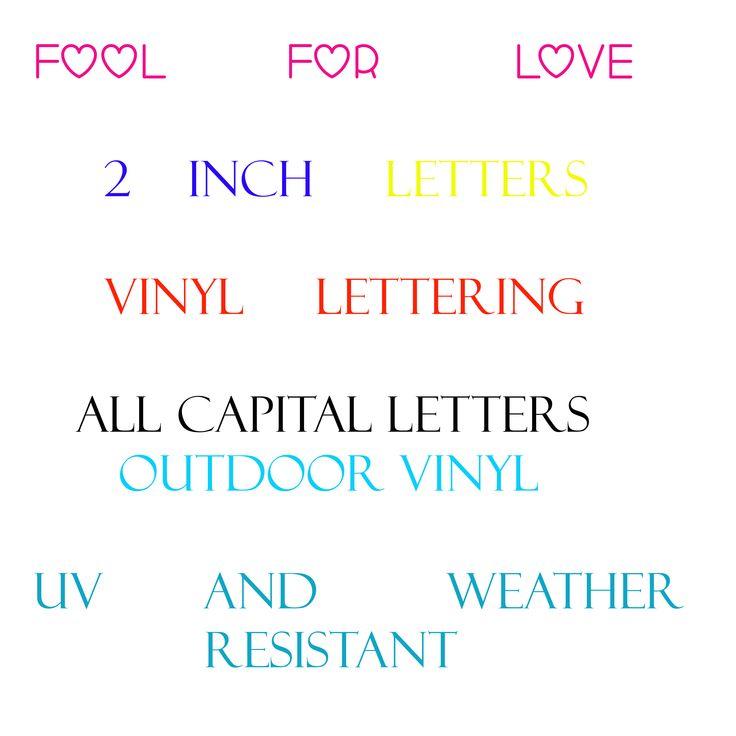 17 best images about custom lettering on pinterest truck for Vinyl lettering colors