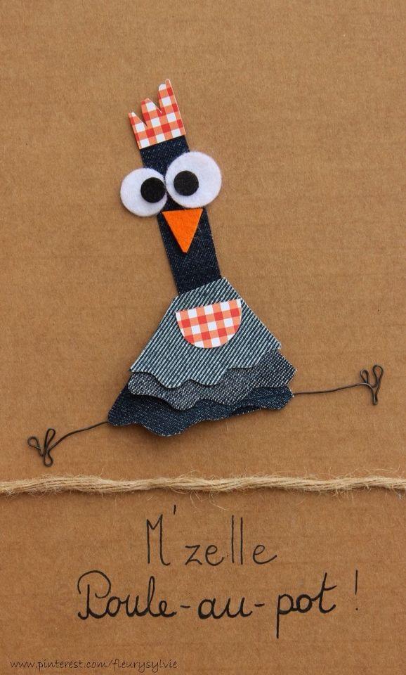 M'zelle Poule-au-pot!! #recyclage #jeans http://pinterest.com/fleurysylvie/mes-creas-la-collec/