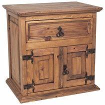 Mexican Rustic Furniture Double Door Nightstand