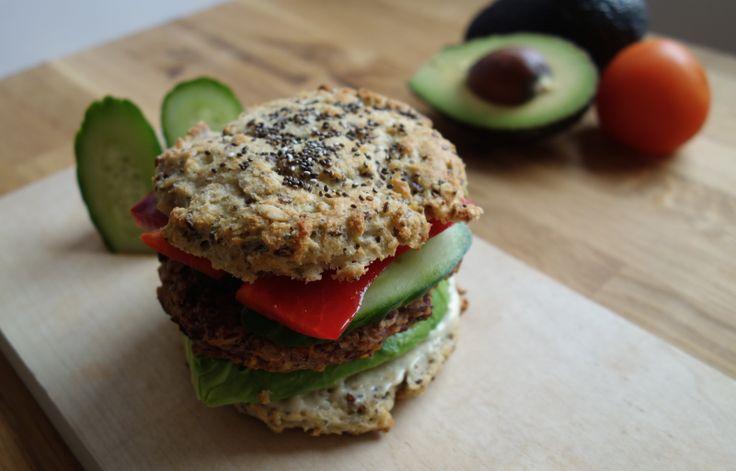 Glutenfri vegetar burger