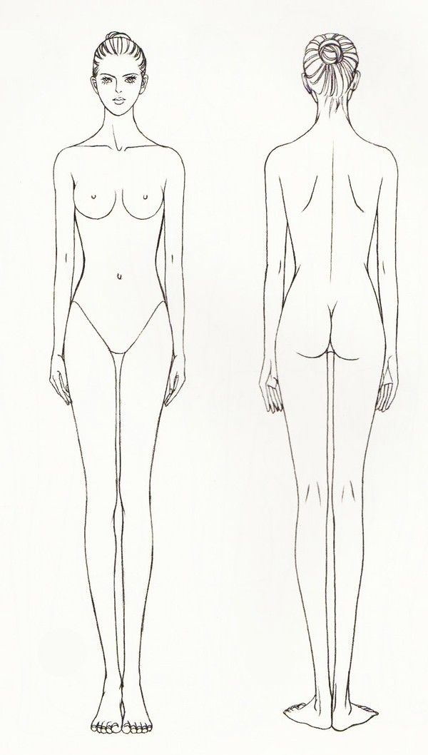 drawing tutorial woman body