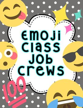 Use team jobs this year! There are 3 versions of these emoji classroom jobs crews and teams! Classroom Job Crews is a great way to encourage teamwork and respect in your classroom. Includes 11 job cards, one job crew title sign, job application and shout out cards.