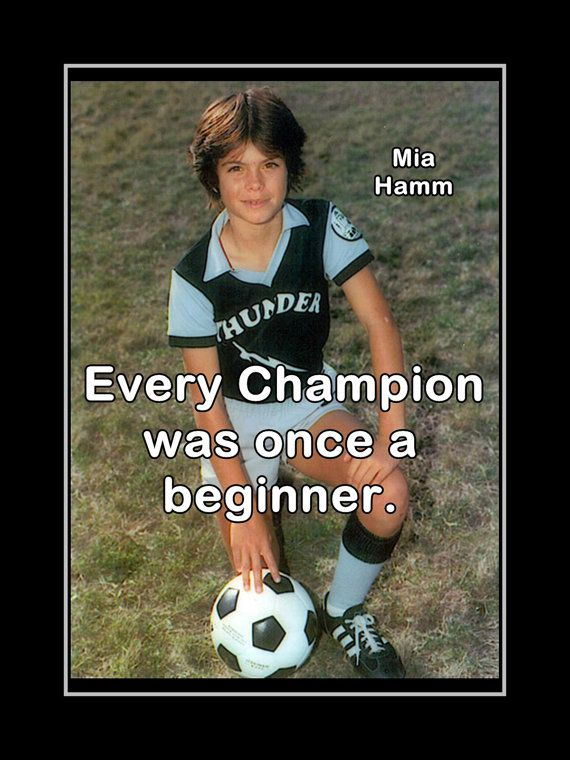 Mia Hamm Soccer Poster Photo Quote Fan Wall by ArleyArtEmporium, $11.99
