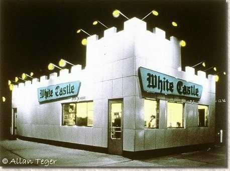 White Castle hamburgers... I wish they would franchise out west. :-(