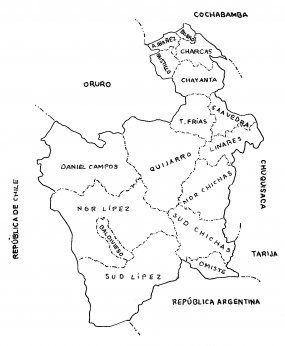 Potosí, division politica