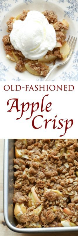Warm slices of baked apples covered with cinnamon brown sugar streusel topping make up this classic Apple Crisp. There aren't many ingredients required in order to bake the perfect apple crisp. You just...