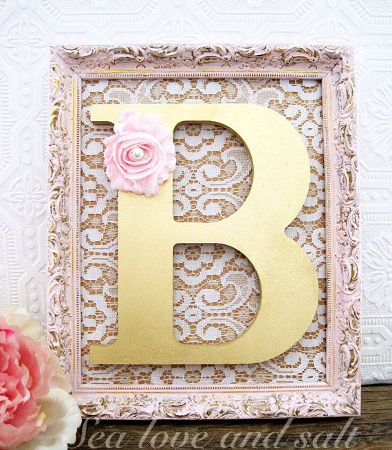 Pink and Gold Nursery Décor-love the combo of burlap and lace