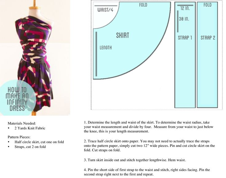 how to make an infinity dress