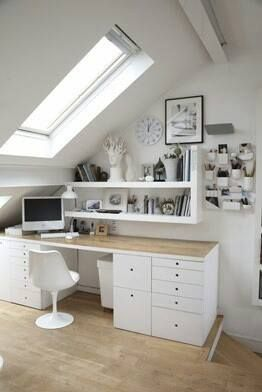 a place to work in the attic