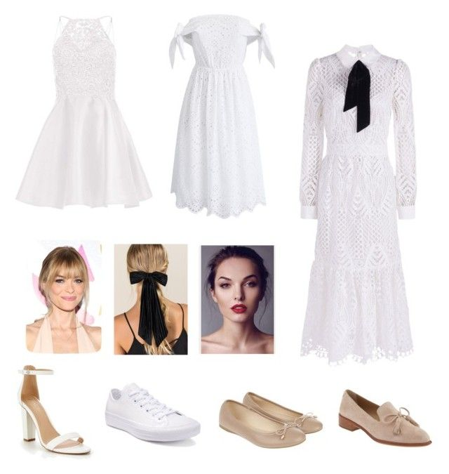 """Arina's white mood"" by arini-lioni on Polyvore featuring Alyce Paris, Chicwish, Temperley London, Converse, Banana Republic, Accessorize and Francesca's"