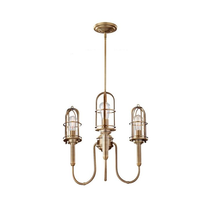 The Murray Feiss Dark Antique Brass Direct For Urban Renewal 3 Light 1 Tier Chandelier And Save