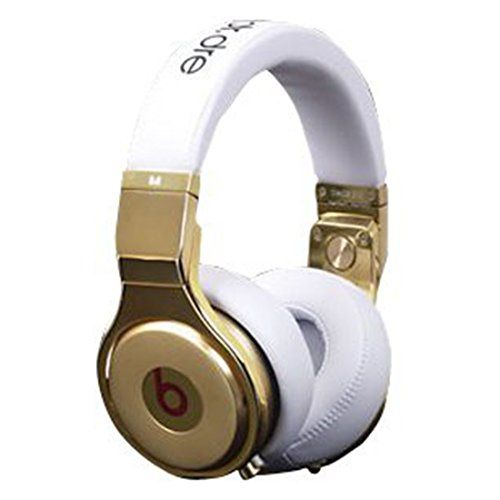 Beats Pro Over Ear Headphone White with Gold