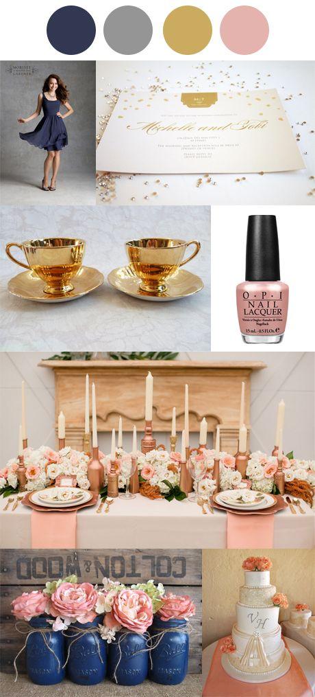 Grown Up Glitz Rose Gold Wedding Colour Palette #weddingplanning #engaged