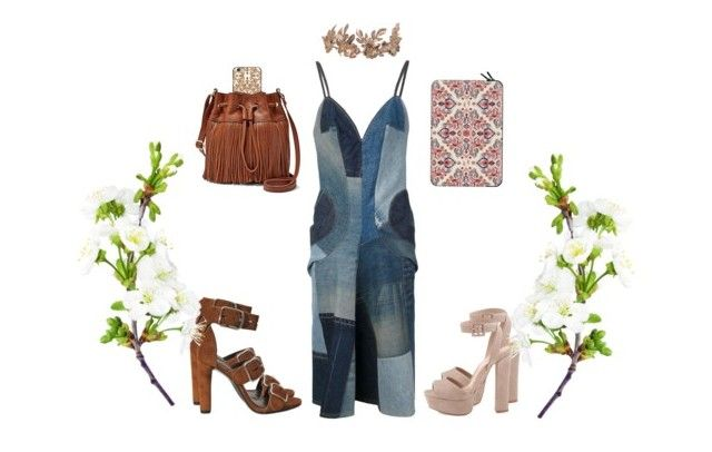 patchwork folk by consuelo-cardenas on Polyvore featuring moda, Alexander Wang, Schutz, FOSSIL and Casetify