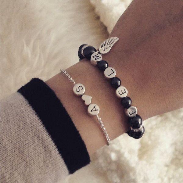 Vielzahl von Designs und Farben billiger Rabatt zum Verkauf Namensarmbänder - Initial Armband mit name personalisierbar ...