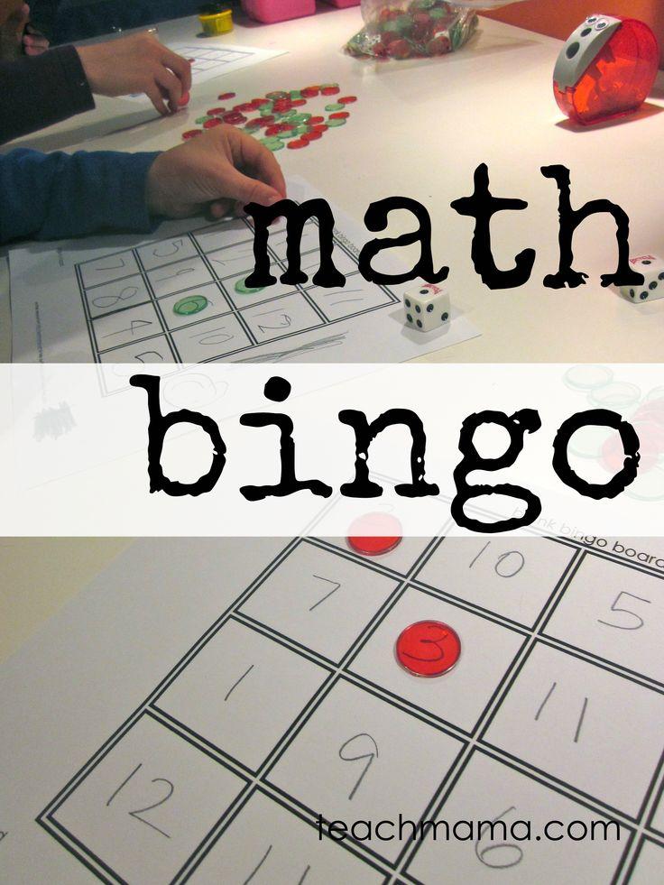 math bingo: fun ways to practice math facts from teachmama.com