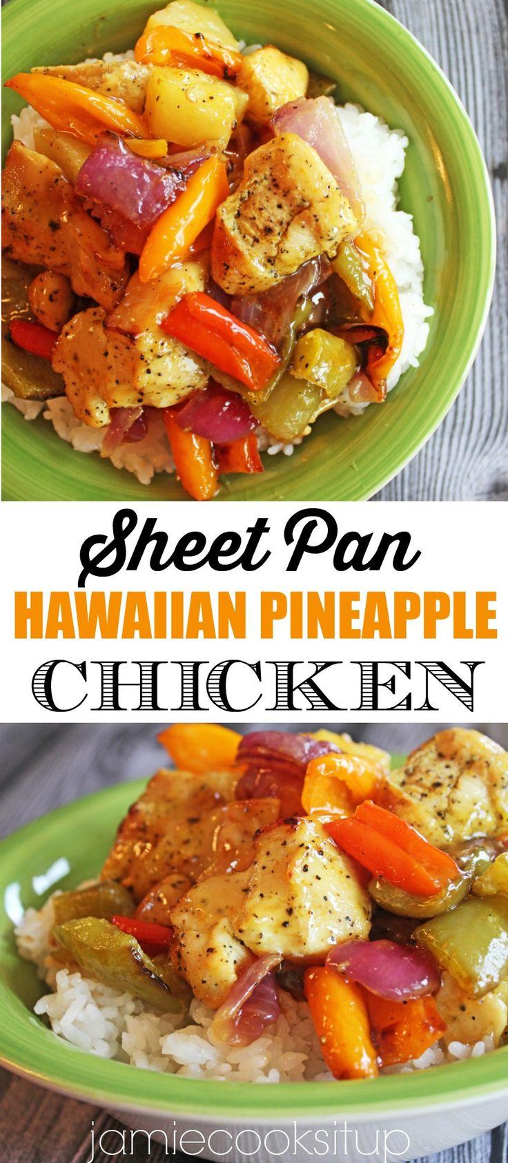 Sheet Pan Hawaiian Pineapple Hen