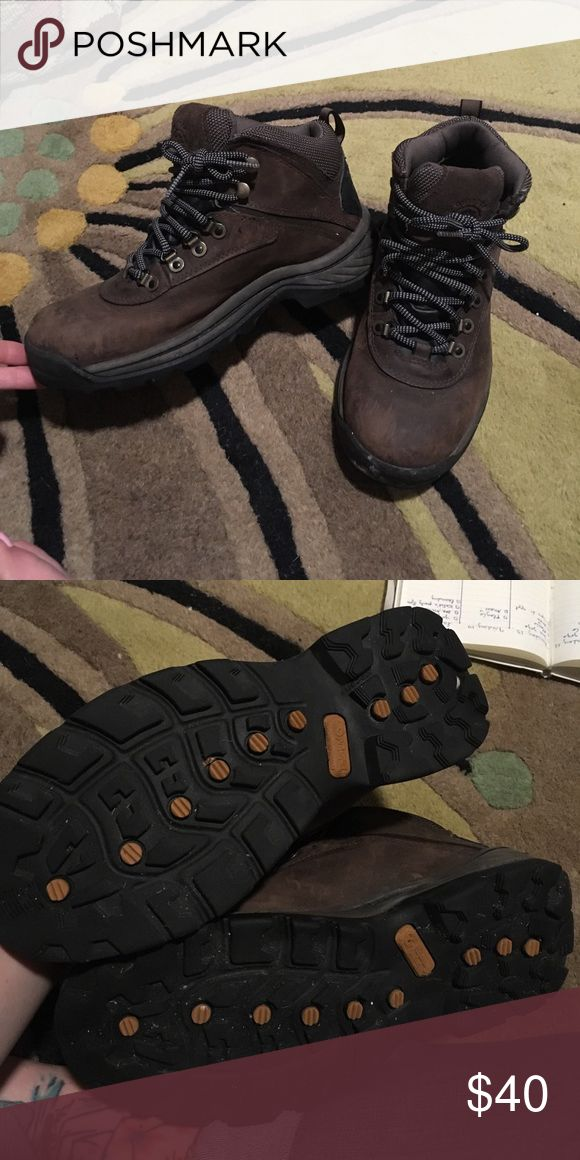 Timberland hiking boots Leather a little worn but treads are in super condition. Timberland Shoes Winter & Rain Boots
