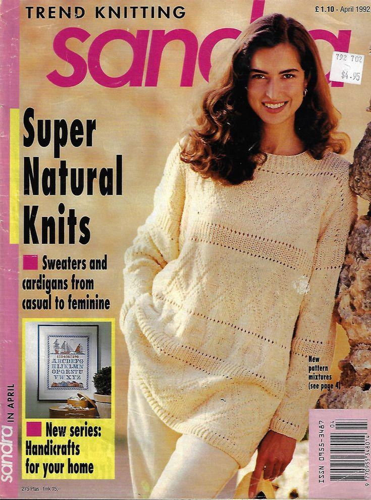 Sandra knitting magazine April 1992 picture knits fairisle sweater Bert & Ernie  #Sandra