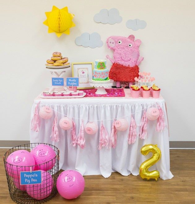 Peppa Pig Party ideas | Peppa Pig Cake Table
