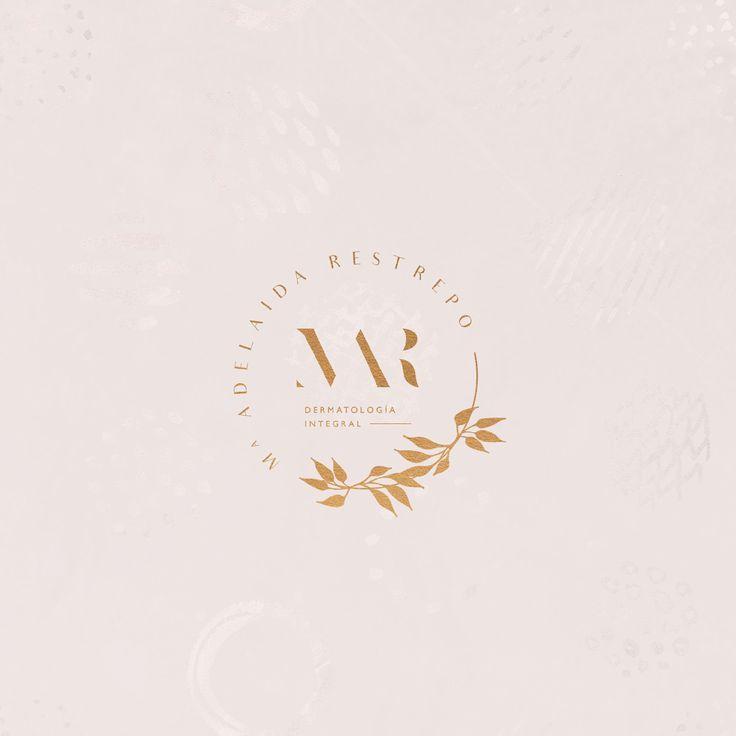 Type and flower logo for dermatologist