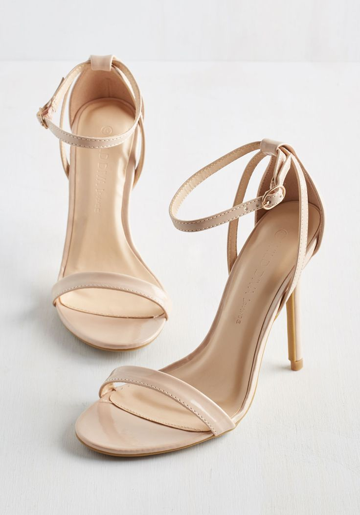 Think Posh-itive Heel in Champagne. You were already looking forward to tonights gala, but these taupe heels have you over the swoon! #tan #prom #wedding #bridesmaid #modcloth