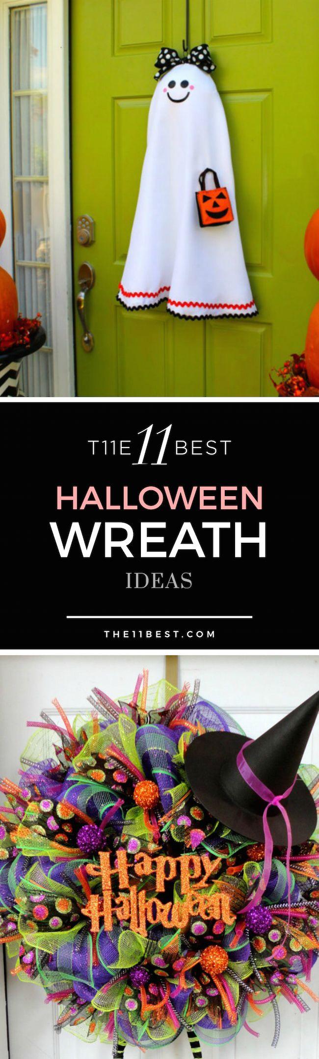 Halloween wreath ideas                                                       …