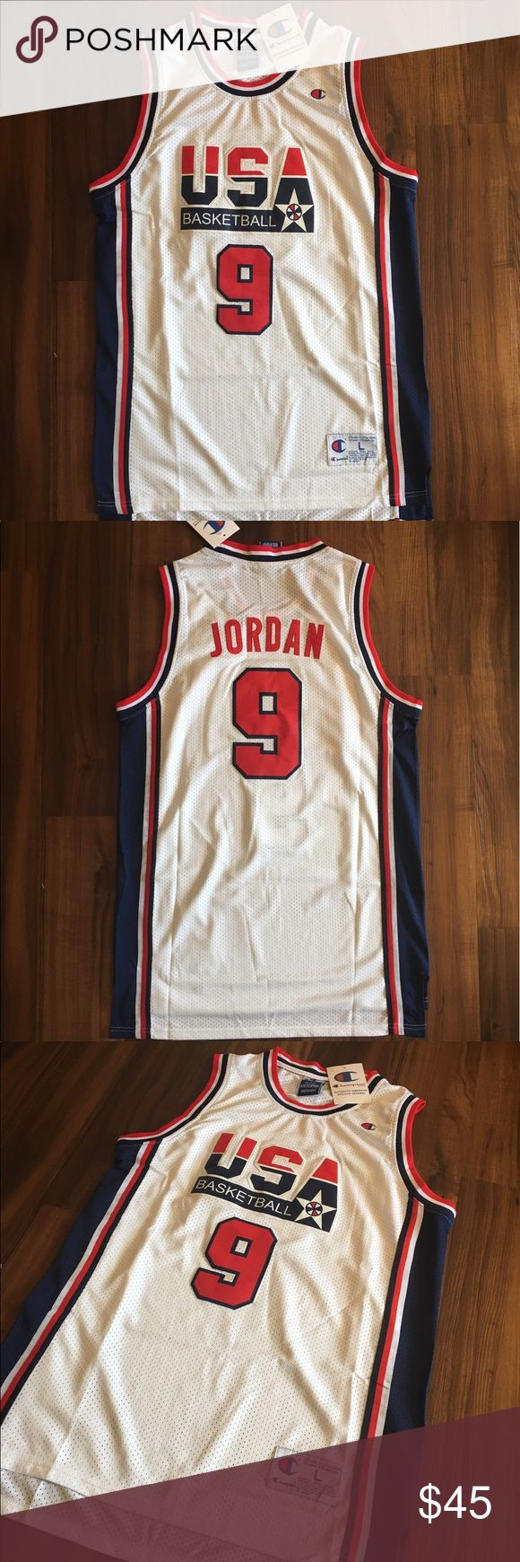 #9 Michael Jordan 1992 Dream Team USA Jersey 🇺🇸4th of July Special🇺🇸 Brand new Dream Team 1992 USA Michael Jordan Jersey from Champions. RETRO design. Good quality material. Size large. Ships fast! Champion Shirts Tank Tops