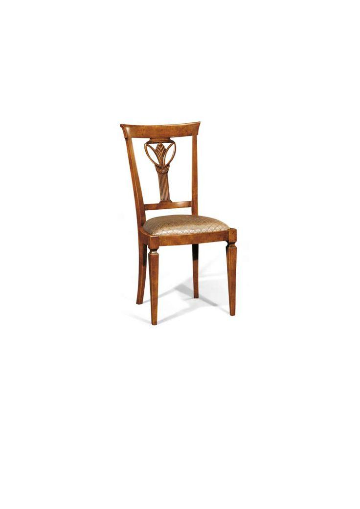 Scaun din lemn masiv art 508s Upholstered Chair Meggoirini Santino Collection