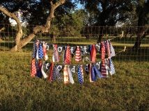 SEC Ole Miss Hotty Toddy blue red and white rag banner to decorate for tailgate, home and dorm