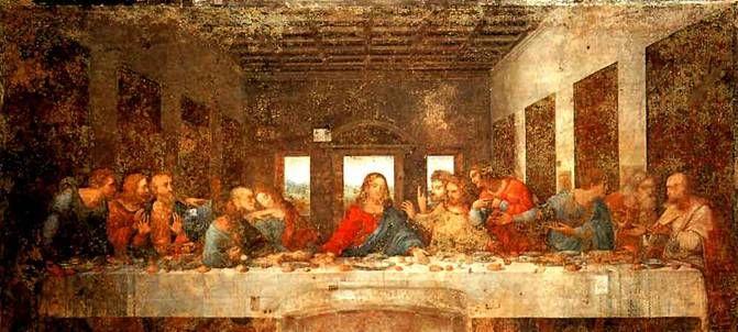 冒涜の絵画「最後の晩餐」