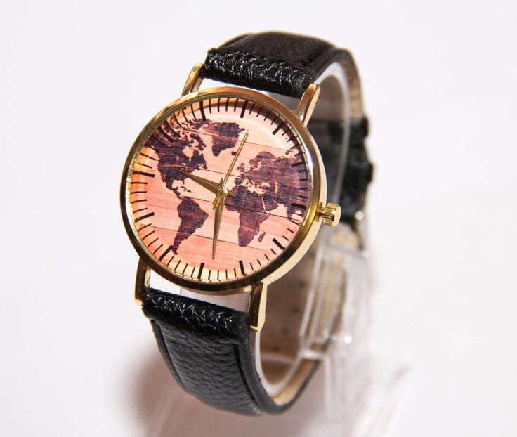 Wristwatches world map, Minimalist Wooden Watch, Wooden Watch for Men,womens watch,personalized watch, groomsman gifts,Handmade Wooden Watch by ShiningBead on Etsy