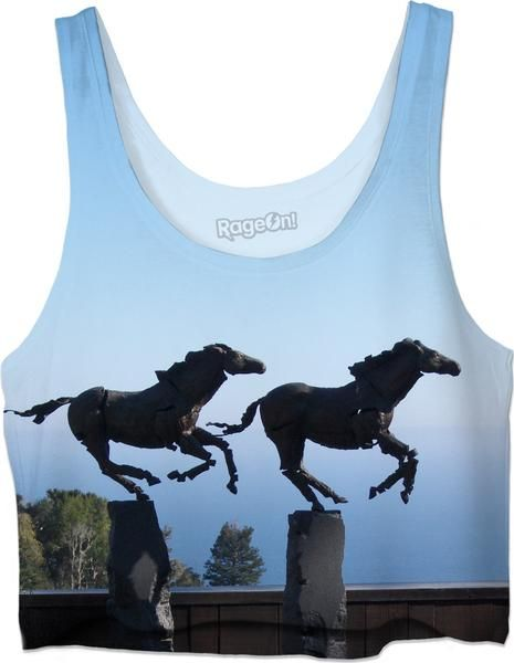 If you have an affinity for Horses, this Custom Crop Top is for you! Horses, sky, spirit animal, Equine, Equestrian, Saratoga, Del Mar, Tampa Bay Downs, Horse R