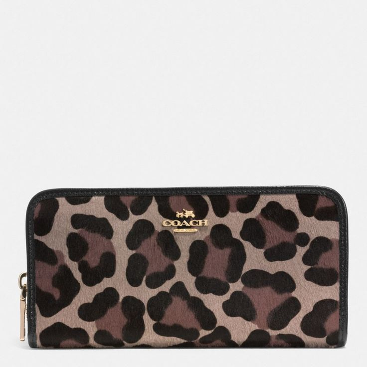 The Accordion Zip Wallet In Printed Haircalf from Coach...#Fall2014