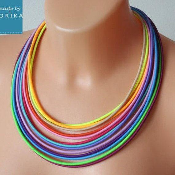COLORIKA jewellery, COLORIKA necklace, Rainbow necklace, Rainbow jewelry, Tribal Jewelry