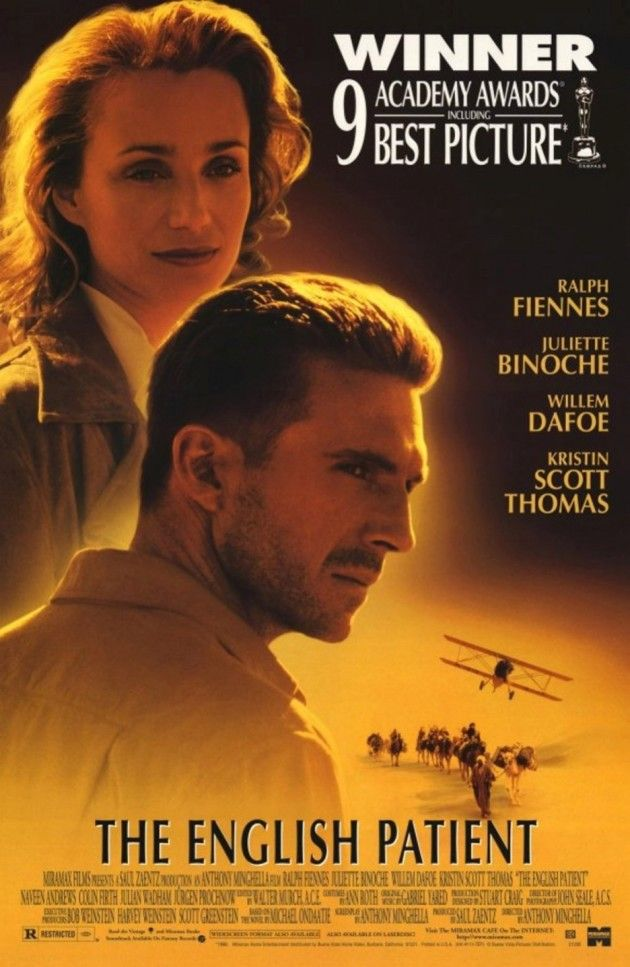 The English Patient- Odd that being a fan of Ralph Fiennes I've only just watched this today. Then I downloaded the audiobook, read by Mr Fiennes haha!