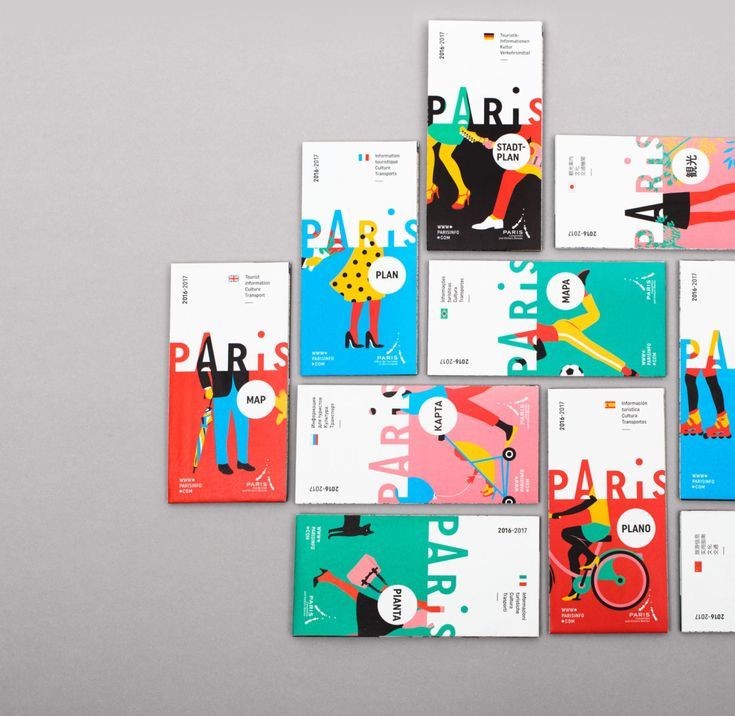 D-03-paris-map-design-graphic  Branding Paris Logo design minimal illustrations colors fresh