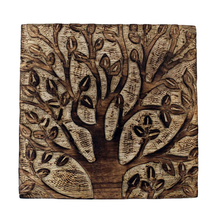 "Purple Leopard Boutique - 6"" Blooming Tree Wooden Box Hand Carved Square , $32.00 (http://www.purpleleopardboutique.com/6-blooming-tree-wooden-box-hand-carved-square/)"