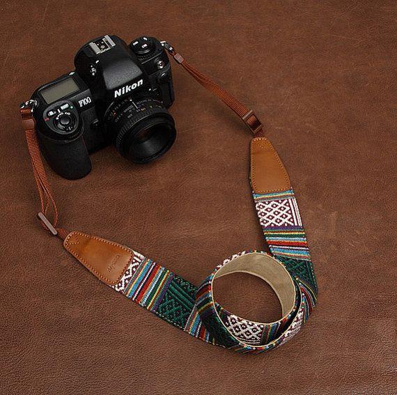 SLR Camera straps7215, Denim leather camera straps Canon/ Nikon /Sony camera straps on Etsy, $26.00