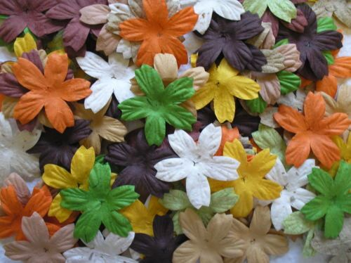 50 or 100 NATURAL STAR MIX mulberry paper FLOWER PACKS exclusive to CRAFTY COW