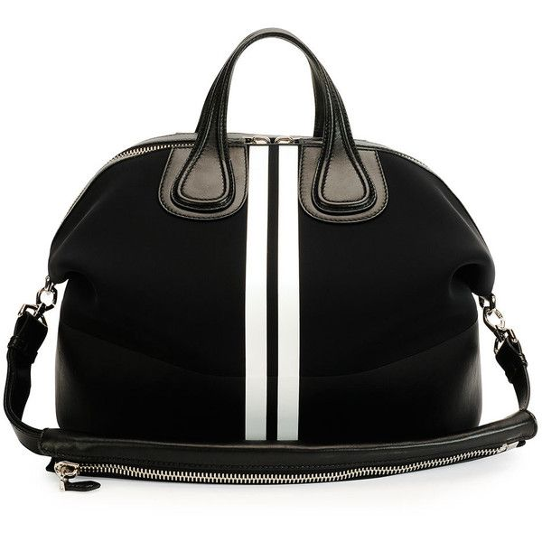 Givenchy Men's Nightingale Neoprene Satchel Bag ($3,080) ❤ liked on Polyvore  featuring men's fashion