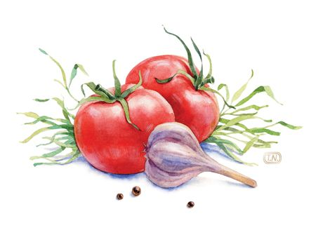 sausage delicacies by Natalia Tyulkina, via Behance #watercolor #illustration
