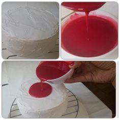 Tecnica espejo para tartas o glaseado brillante