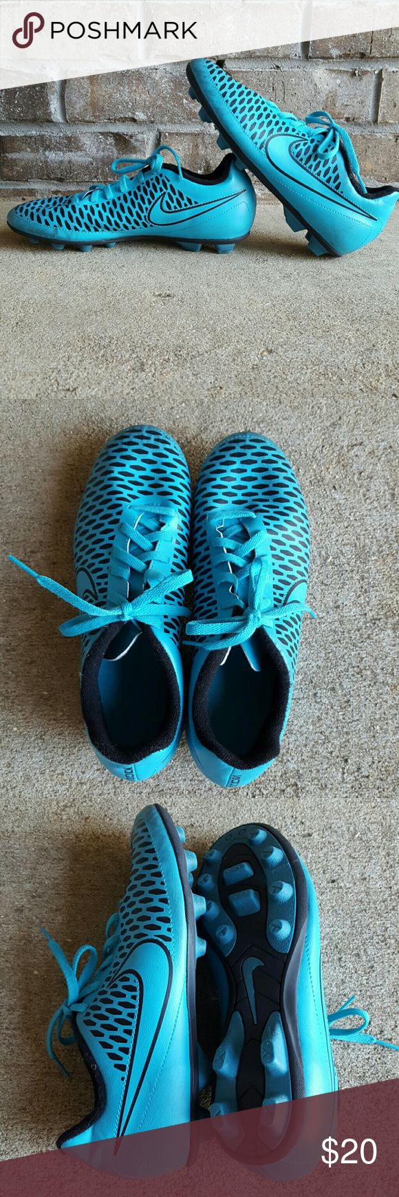 Nike Kids Soccer Cleats Size 5.5Y Nike Kids cleats size 5.5 Y Worn once at a training camp See my closet for amazing bundle ideas  30 percent off bundles Shoes Sneakers