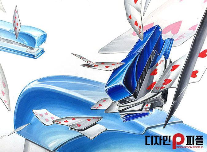스테이플러와 카드를 이용한 기초디자인 - 피플미술학원 #기초디자인 #화면구성 #피플미술학원 #미대입시 #스테이플러