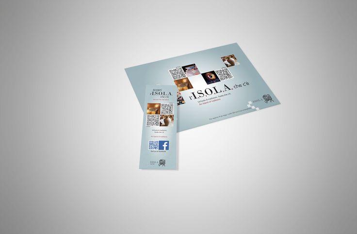 Promocard & bookmark  I.S.O.L.A. - Artigianato Artistico Porto Cervo  (Costa Smeralda)
