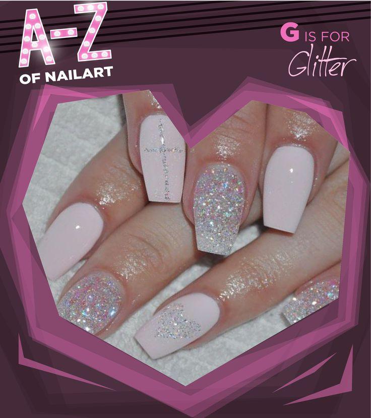 G is for Glitter. #A-ZNailArt