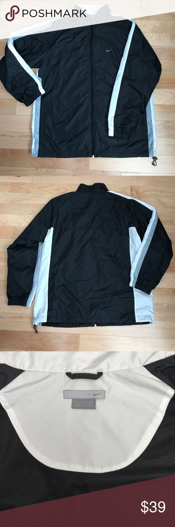 Nwot XL nylon Nike sport jacket Very cool nylon with vented air mesh inside with drawstring adjustable at the waist, brand-new without tags's Nike Jackets & Coats Windbreakers