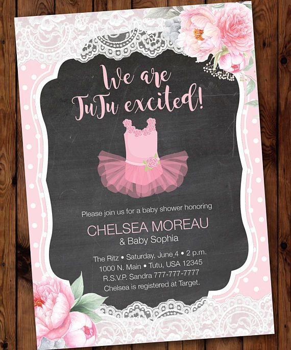 pink tutu tutu baby showertutu baby baby showertutu shower tutu invite 004