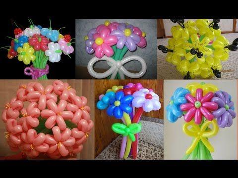 Сердцевинки для цветов из воздушных шариков (Stamens for flowers balloon) - YouTube